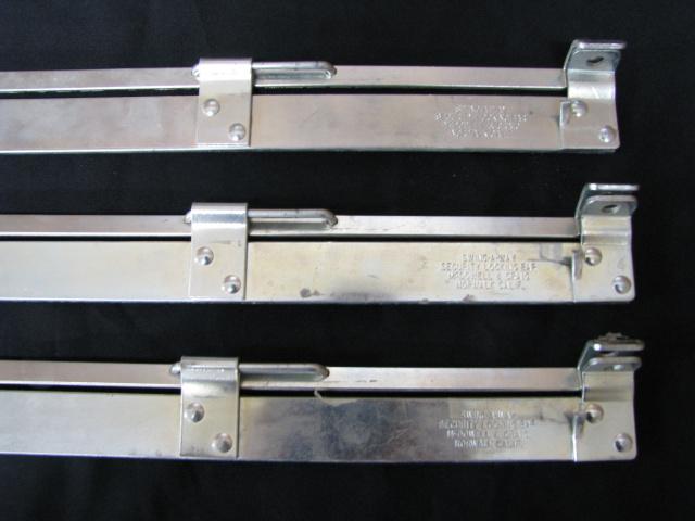 3) HIGH SECURITY FILE CABINET LOCKING BARS (# B-2845)