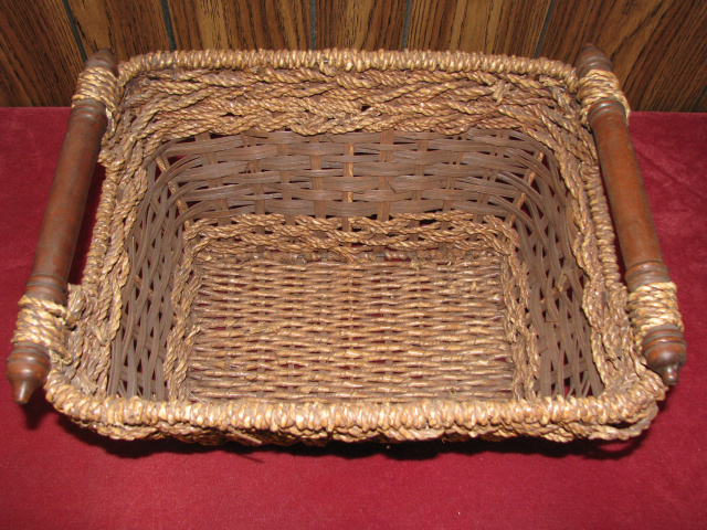 (3) WOVEN BASKETS with HANDLES         (# B-2779)