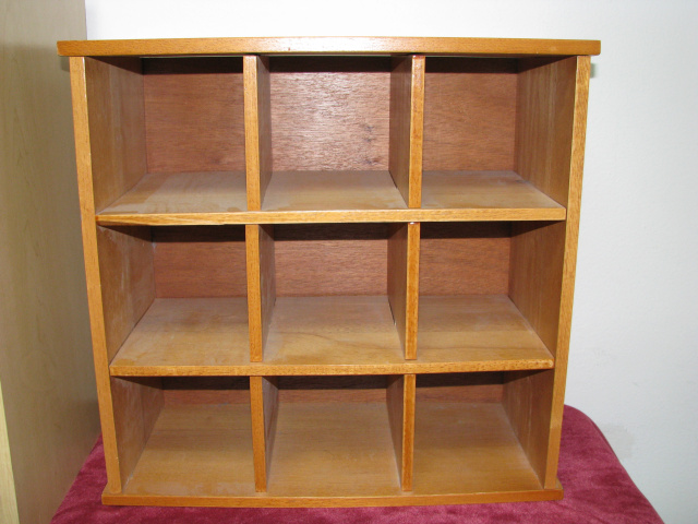 9 CUBBY HOLE - CHERRY WOOD CABINET    (# B-2981)