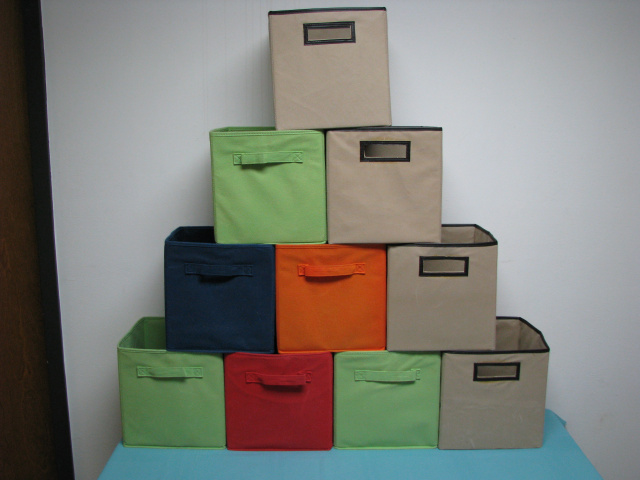 (10) FABRIC STORAGE CUBE DRAWER / BAGS (# B-3020)